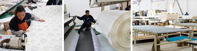 晶晶床垫生产过程特写2